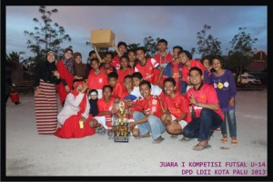 LDII Palupi Juara Kompetisi Futsal LDII Palu