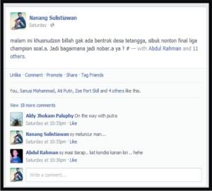 musyawarah singkat dengan facebook